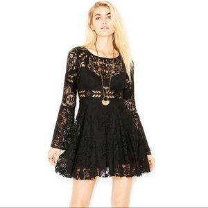 Free People | Lace Lovers Folk Song | Black Dress